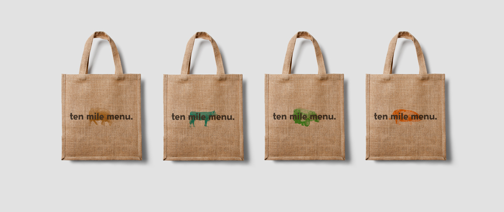 Ten Mile Menu - Printed Bags
